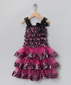 Take a look at this Dark Purple Heart Ruffle Dress - Infant, Toddler & Girls on zulily today!