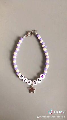 Diy Beaded Bracelets, Diy Bracelets Easy, Beaded Anklets, Cute Bracelets, Diy Necklace, Handmade Bracelets, Beaded Earrings, Jewelry Bracelets, Handmade Jewelry