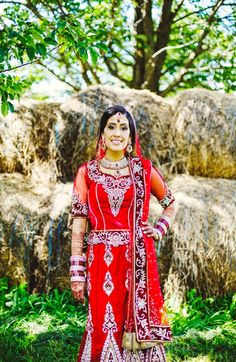 Beautiful Red Bridal Lengha #red #silver #lengha #indian #shaadi #wedding #southasian #shaadi #belles | courtesy of Nimboo Photography | for more inspiration visit www.shaadibelles.com