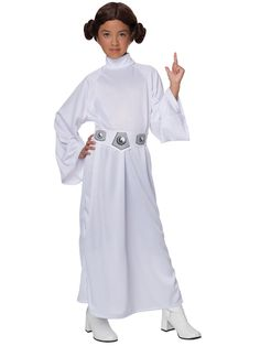 The kids Princess Leia costume will give your child a stunning look from the original Star Wars movies. The girl's Star Wars costume comes with a bun headpiece. Princess Leia Costume Kids, Princess Leia Outfit, Disney Princess Leia, Princess Star, Real Princess, Costume Star Wars, Costume D'halloween Fille, Baby Girl Halloween Costumes, Mardi Gras
