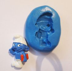 smurf Flexible Silicone Push Mold for Polymer clay by MyfioriDes, $5.60