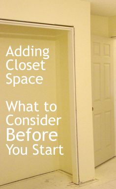 Adding Closet Space – What to Consider Before You Start http://www.anchoragehousesales.com/miarticles/articleid/131/
