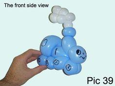 Balloon-O-Therapy Twisting Balloons with FewDoIt: Thomas Engine Balloon | How To Make One Balloon Train