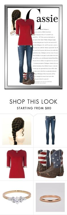 """Cassie (Ranch outfit)"" by capfan2014 on Polyvore featuring rag & bone/JEAN, Burberry, Roper, Kataoka and steveandcassie"