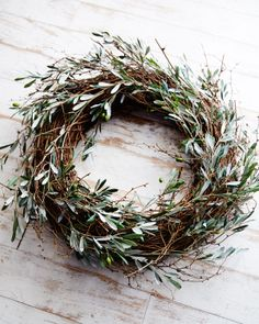 olive + twig wreath