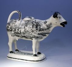 WELSH COW CREAMER FIGURE GLAMORGAN POTTERY by GLAMORGAN POTTERY ... antiquepottery.co.uk