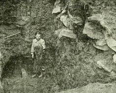 Gran esqueleto descrito en el Roberts Mound, en el condado de Perry, Ohio