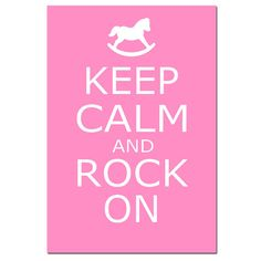 Keep Calm and Rock On  11 x 17  Poster Size Modern by Tessyla, $28.00