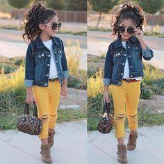 Kid fashion, girls fashion kids, little girl outfits, baby outfits, t Baby Outfits, Girls Fall Outfits, Outfits Niños, Cute Girl Outfits, Little Girl Outfits, Toddler Girl Outfits, Trendy Toddler Girl Clothes, Little Girl Style, Cute Outfits For Kids