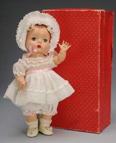 "~ Madame Alexander Hard Plastic ""Baby Precious"" Doll ~ (1950)"