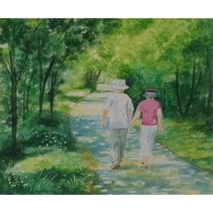 "Watercolour Painting ""Woodland Walk"""