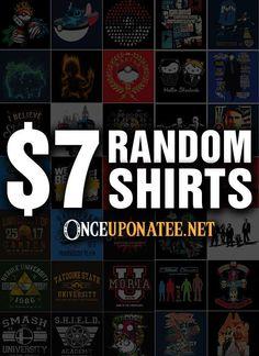 $7 Random T-Shirts Cheap T Shirts, Cute Shirts, Geek Shirts, Gamer Gifts, Fandoms, Geek Stuff, Shirts For Girls, Poster, Dreads