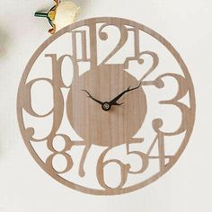 Hanging Clock, Diy Clock, Clock Decor, Wall Clocks, Reading Room, Home Living Room, Bedroom, Chic, Stylish