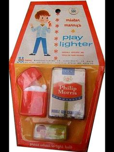 Something you wouldn't endorse as a stocking stuffer in this day and age....play cigarettes and lighter