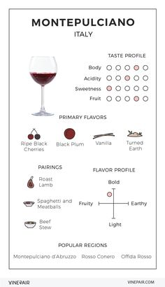 An Illustrated Guide to Montepulciano from Italy #wine #infographic #design