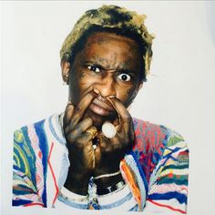 Young Thug Rapper Artist poster wall decoration photo print x Young Money, Hip Hop News, Young Thug, Anatomy Art, New Music, Mtv, Rapper, Celebs, Actors