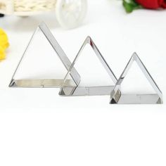 3 Pcs Triangle Stainless Steel Cookie Cake Biscuit Cutter Mold Set   What does include #goodbuy:  Enjoyable shopping at cheapest prices Best quality goods 24/7 support & easy communication 1 day products dispatch from warehouse Fast & reliable shipment (7-25 business...