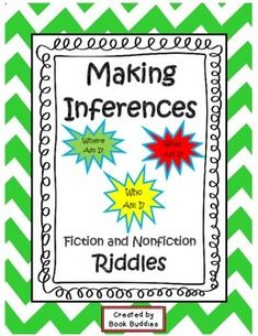 Inference Riddles Task Cards