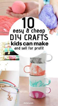 These 10 easy crafts you can make and sell online are THE BEST! Who knew there w. These 10 easy crafts you can make and sell online are THE BEST! Who knew there were so many great c Crafts For Teens To Make, Crafts To Make And Sell, Sell Diy, How To Make Money, Kids Diy, Make Money From Home, Upcycled Crafts, Diy Home Crafts, Fun Crafts