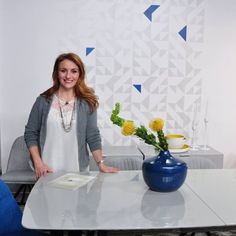 Cutting Edge Stencils is featured on Cityline TV using the Shapes Allover Stencil in Benjamin Moores color of the year Simply White. http://www.cuttingedgestencils.com/shapes-allover-geometric-stencil.html
