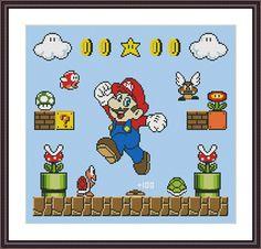 Super Mario Retro Video Game Super Mario Cross Stitch