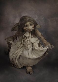 "Troll Maid by Wendy Froud, 17"" tall, featured in ""Trolls"" the book"