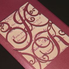 Elegant laser cut with intertwined initials