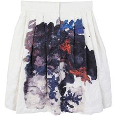 Cacharel Floral Skirt ❤ liked on Polyvore