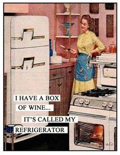 I have a box of wine.... #wine #retro #humor