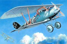 Pinturas aviación Gran Guerra 1914-1918 Jasta 16b Pfalz DIIIa
