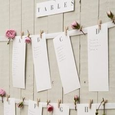 table plan - seating plan - wedding seating - paper - roses - vintage - country