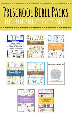 Click on the button of the type of printable you want and it will take you to a page of all my printables related to that subject. All of my printables are free but please remember that they are for your personal (non-commercial) use only. Preschool Bible Printables   …