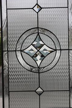 This lovely  Beveled Star & Circle  stained glass panel is 12 x 20 and can…