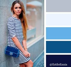 Shades of blues and greys Colour Combinations Fashion, Color Combinations For Clothes, Fashion Colours, Colorful Fashion, Color Combos, Color Schemes, Color Palate, Colour Pallette, Coordinating Colors