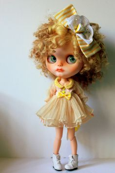 On layaway for Sue Lemon Meringue OOAK Custom by BlytheDollBakery