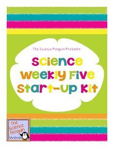 Science Weekly Five Start-Up Kit - The Science Penguin - TeachersPayTeachers.com