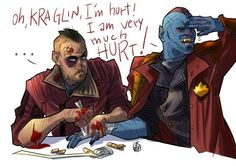 Fan art - Yondu being overdramatic about his injury