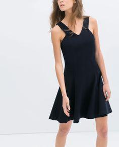 STRAPPY DRESS WITH FLOUNCE SKIRT - Dresses - TRF | ZARA Serbia