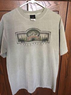 df502151 Rare Vintage Yellowstone Short Sleeve T Shirt WILD By NATURE Large #fashion  #clothing #