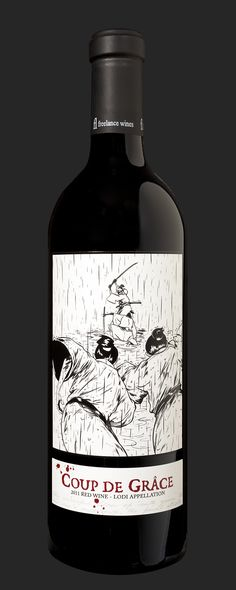 Freelance wines ©. label for the wine label Coup de Grâce.