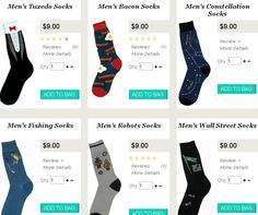 Novelty Gifts for Men Men's Tuxedo Socks, Bacon Socks, Fihing Socks, Robots Socks, Wall Street Socks, Constellation Socks...  ☀☆Please Repin - #GiftPinPtrCom☆☀ Men's Tuxedo, Tuxedo For Men, Bacon Socks, Novelty Gifts For Men, Wall Street, Constellations, Robots, Bags, Handbags