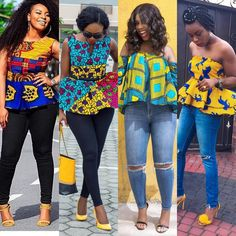 Trending Ankara Tops at the Moment African Print Dresses, African Fashion Dresses, African Wear, African Attire, African Women, African Dress, Ankara Fashion, African Prints, African Style