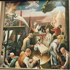 INDIANA - Parks, the Circus, the Klan, the Press by Thomas Hart Benton, Woodburn Hall, University of Indiana, WPA Bloomington, IN