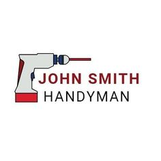A creative template for a logo post. A simple background with an illustration of a drill and 'John Smith Handyman' also included.
