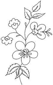 images attach c 4 79 404 Silk Ribbon Embroidery, Embroidery Needles, Hand Embroidery Patterns, Embroidery Applique, Flower Drawing Tutorials, Flower Line Drawings, Flower Patterns, Flower Designs, Stencil Printing