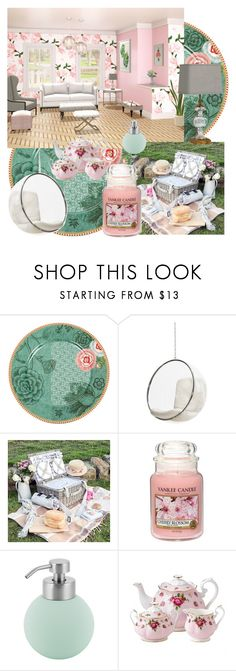 """""""Excited for Spring"""" by laurawebbpoems ❤ liked on Polyvore featuring interior, interiors, interior design, home, home decor, interior decorating, PiP Studio, Yankee Candle, Aquanova and Royal Albert"""