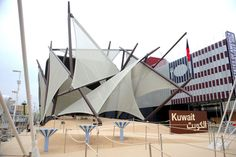 The most complicated form at Expo Milano 2015:Kuwait Pavilion | Challenge of Nature