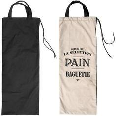 Dimension : 69 x 11cm.  Matière : 100% Coton.    C'est un joli rangement de cuisine pour ranger pain, baguette... La fermeture du sac à pain se fait par noeud coulissant en nylon épais. Le rangement a un design sobre et sophistiq…Voir la présentation