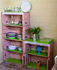 Casa - Decoração - Reciclados: Vamos nos Inspirar com Caixotes? Dicas Incríveis!