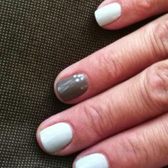 my mom's nails- light and dark gray shellac! thanks Mariana @ solar nails !